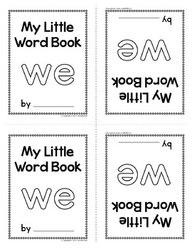 Sight Word Emergent Reader for the Sight Word We