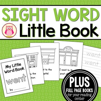 Sight Word Emergent Reader for the Sight Word Went