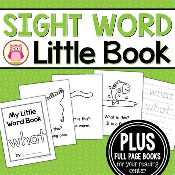 Sight Word Emergent Reader for the Sight Word What