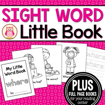 Sight Word Emergent Reader for the Sight Word Where