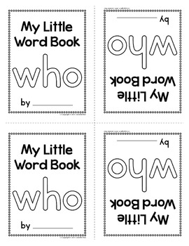 Sight Word Emergent Reader for the Sight Word Who
