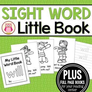 Sight Word Emergent Reader for the Sight Word Will