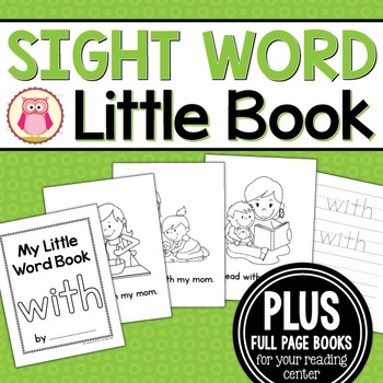 Sight Word Emergent Reader for the Sight Word With