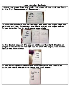 """Sight Word Emergent Reader with Activities- """"and"""""""