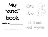 "Sight Word Emergent Reader with Activities- ""and"""