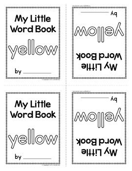 Sight Word Emergent Reader for the Sight Word Yellow