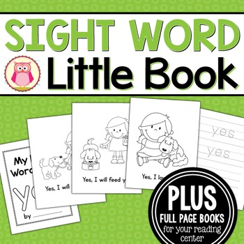 Sight Word Emergent Reader for the Sight Word Yes