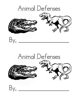 Sight Word Emergent Reader:Animal Defenses (this, for)