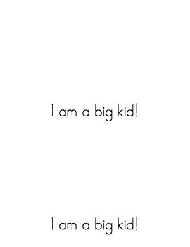 Sight Word Emergent Reader:Big Kids, Little Kids (for)