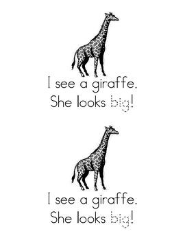 Sight Word Emergent Reader:Big Things! (big)