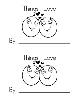 Sight Word Emergent Reader:Things I Love (love)