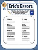 Sight Word Error Fix Work