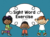 Sight Word Exercise: Scott Foresman (Set 1)