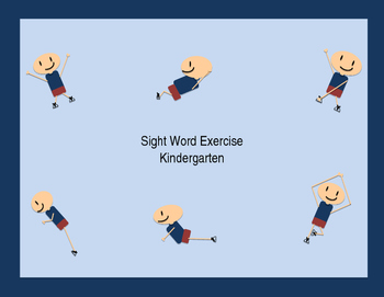 Sight Word Exercise- Dolch Kindergarten