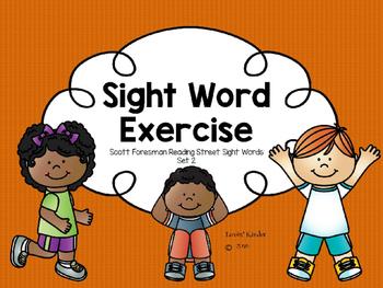 Sight Word Exercise: Scott Foresman (Set 2)