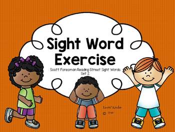 Sight Word Exercise: Scott Foresman (Set 2)