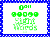 Sight Word Exercises List B