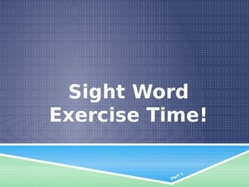 Sight Word Exercises