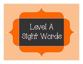 Sight Word Extension Pack for Orange LLI - Level A books