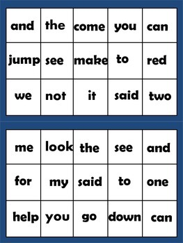 Sight Word Extravaganza Set 1: Dolch Pre-primer words