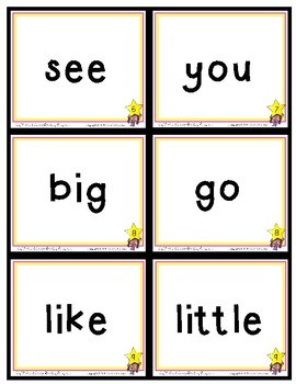 Sight Word FLASH CARDS --- Sight Word Savvy