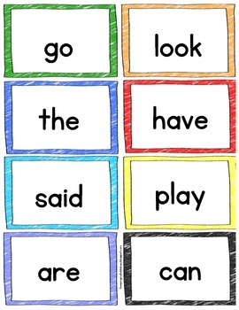 Sight Word FLASH CARDS - 72 Mega Pack - Color & BW - Assessment Checklists