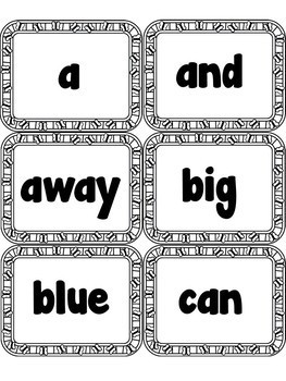 Sight Word FLASHCARDS- Butterflies (Pre-Primer)