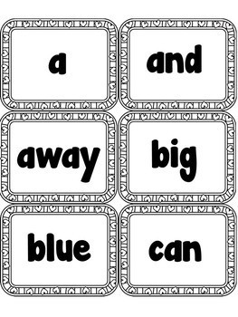 Sight Word FLASHCARDS- Hearts (Pre-Primer)