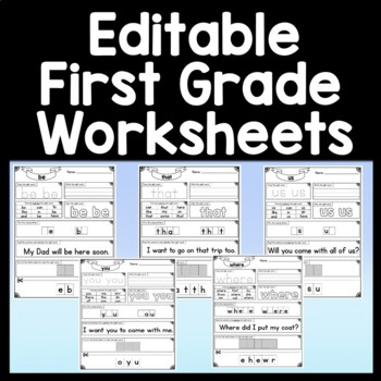 Sight Word FROM {2 Sight Word Books and 4 Worksheets!}