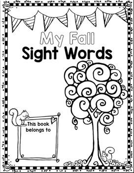 Sight Word Fall Editable Printable