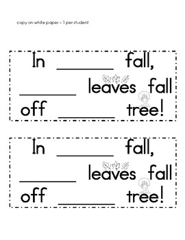 Sight Word Fall Tree FREEBIE