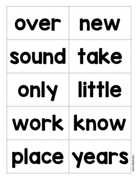Sight Word Family Pack