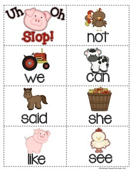 """Sight Word Activities """"Farm Frenzy!"""" - 100 Sight Words Reading Game"""