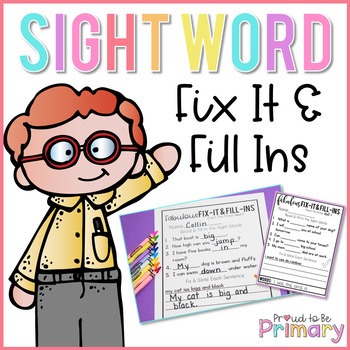 Dolch Sight Words Fill In Activities