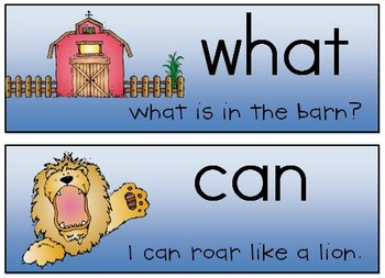 Sight Word Fill-Ins and Sentence Scrambles for Kindergarten