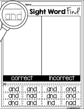 Sight Word Find Bundle Pack