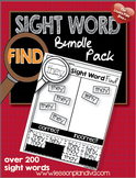 Sight Word Find Bundle Pack