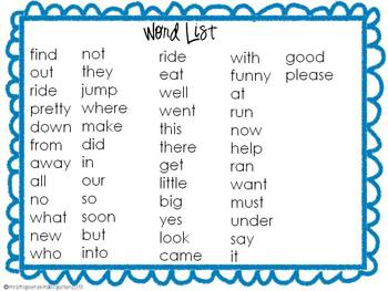 Sight Word Find & Practice---Pack #2