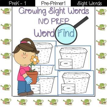 Sight Word Find-Pre-Primer 1