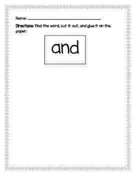Sight Word Find (Set 1)
