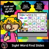 Sight Word Find Slides - Distance Learning