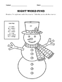 Sight Word Find and Color Worksheet