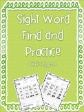 Sight Word Find and Practice