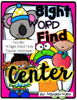 Sight Word Finds Center