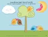 Sight Word Finds-Love Birds and Puppy Love