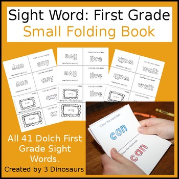 Sight Word: First Grade Small Folding Book