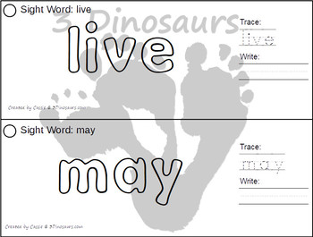 Sight Word First Grade Playdough Mat with Tracing & Writing