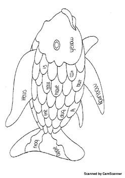 Sight Word Fish Coloring