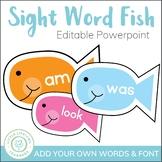 Sight Word Fish Game - Editable