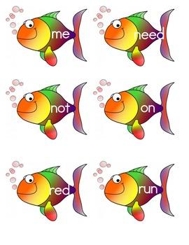 Sight Word Fish - Kindergarten